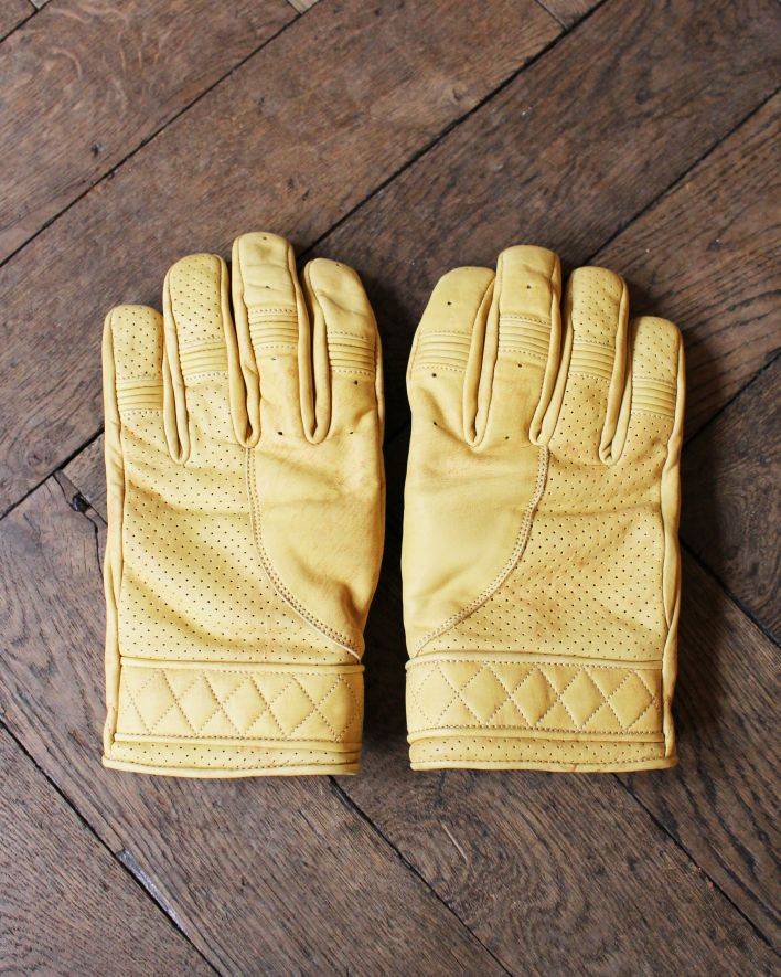 Goldtop England BOBBER Motorcycle Gloves waxed tan_1