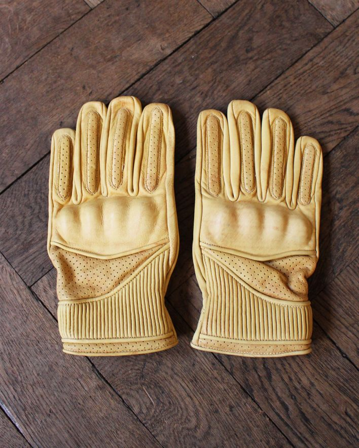 Goldtop England VICEROY Motorcycle Gloves tan_1