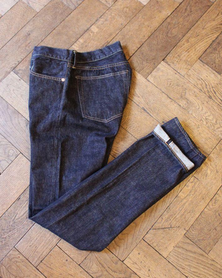 TCB 1950's JEANS R Slim Fit 13.5 oz. indigo Selvedge one wash_2