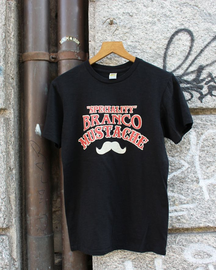 Velva Sheen Branco Moustache T-Shirt black_1