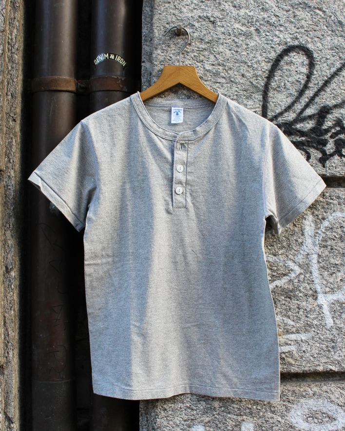 Velva Sheen Henley T-Shirt heather grey_1