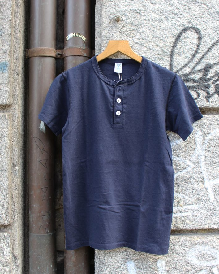 Velva Sheen Henley T-Shirt heather navy_1
