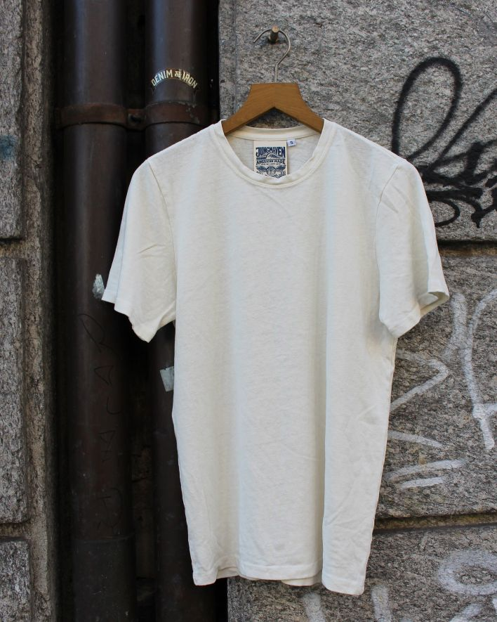 Jungmaven Baja T-Shirt washed white_1
