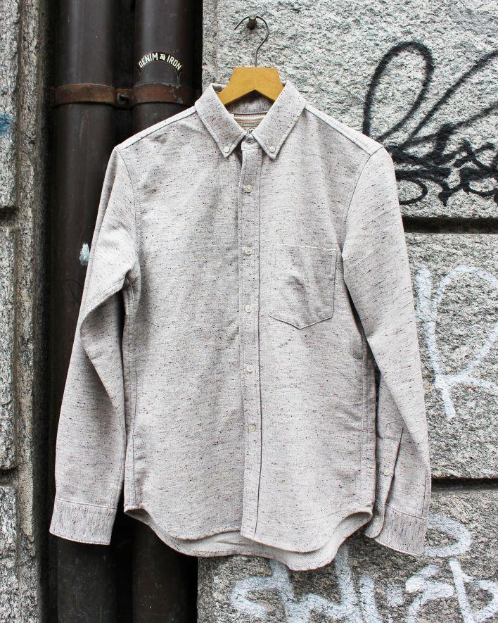 Rogue Territory Oxford Shirt Flannel oatmeal_1