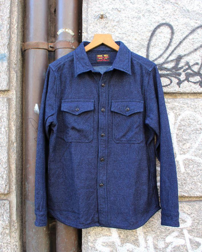 UES Extra Heavy Flannel Shirt indigo_1