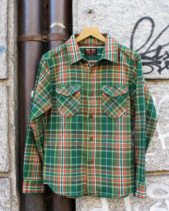 UES Heavy Flannel Shirt green_1