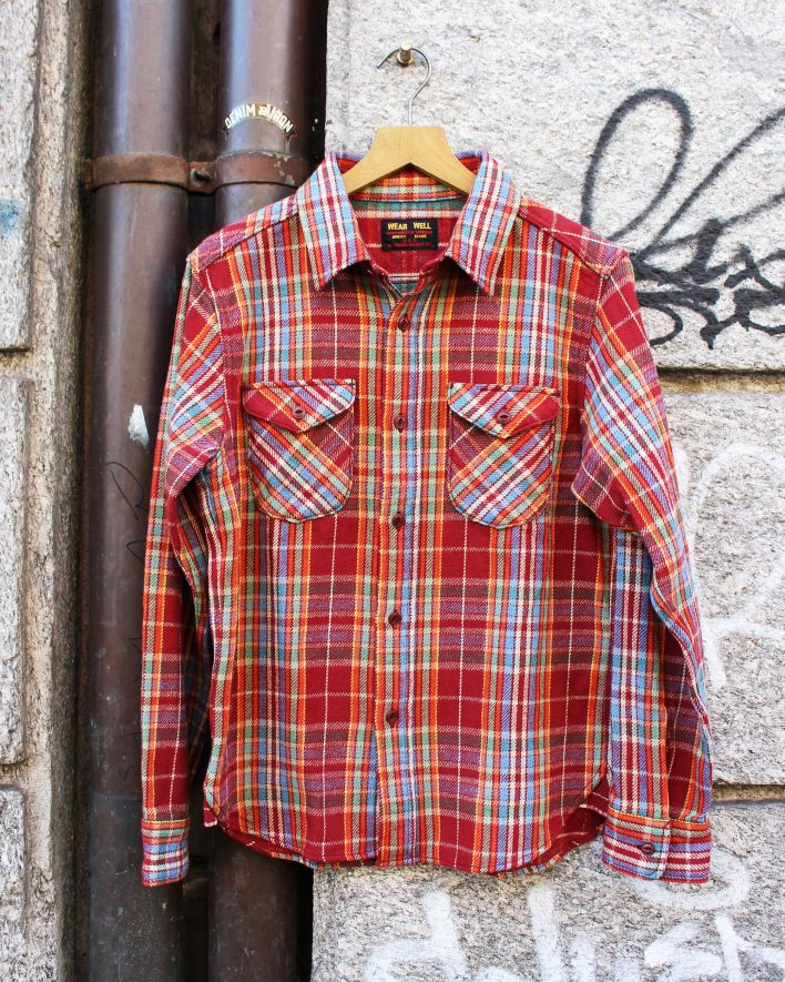 UES Heavy Flannel Shirt red_1