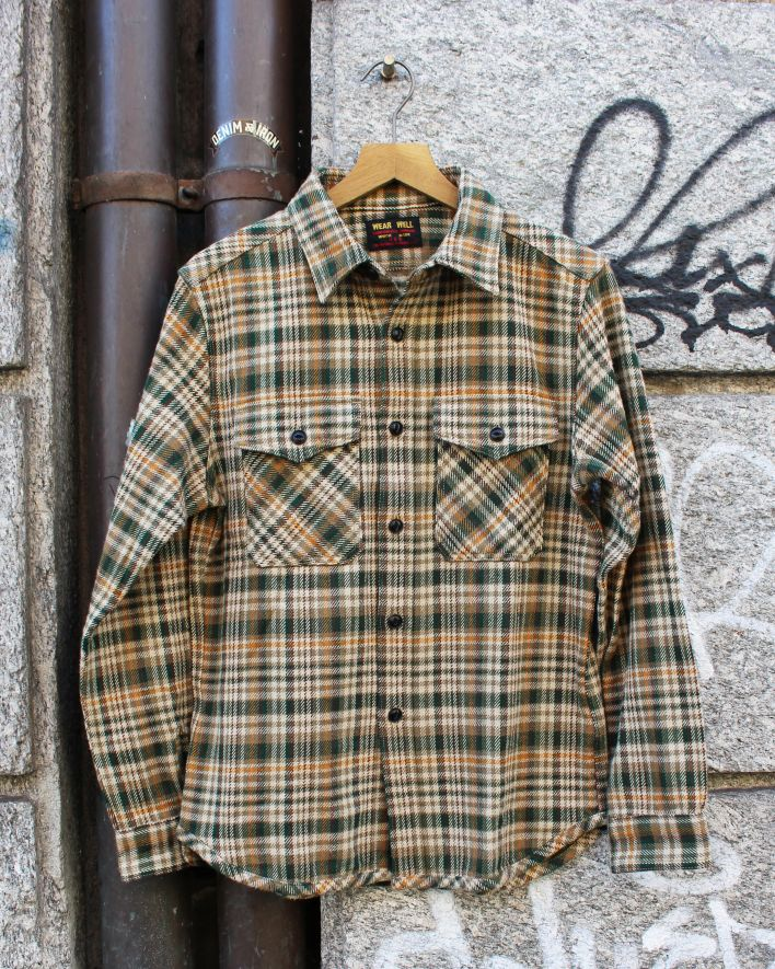 UES_Extra Heavy Flannel Shirt green_1