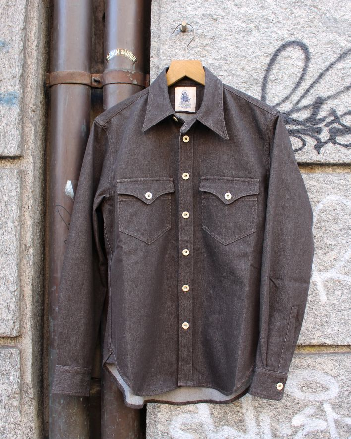 Captain Santors Military Shirt denim brown_1