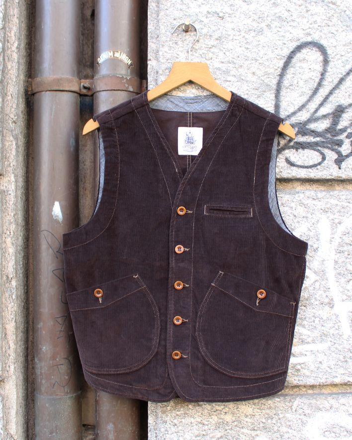 Captain Santors Vest Corduroy brown_1