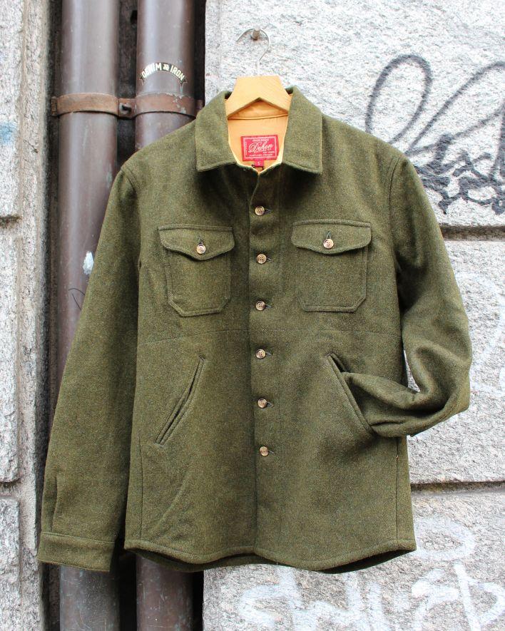 Dehen Crissman Overshirt Wool olive mix_1