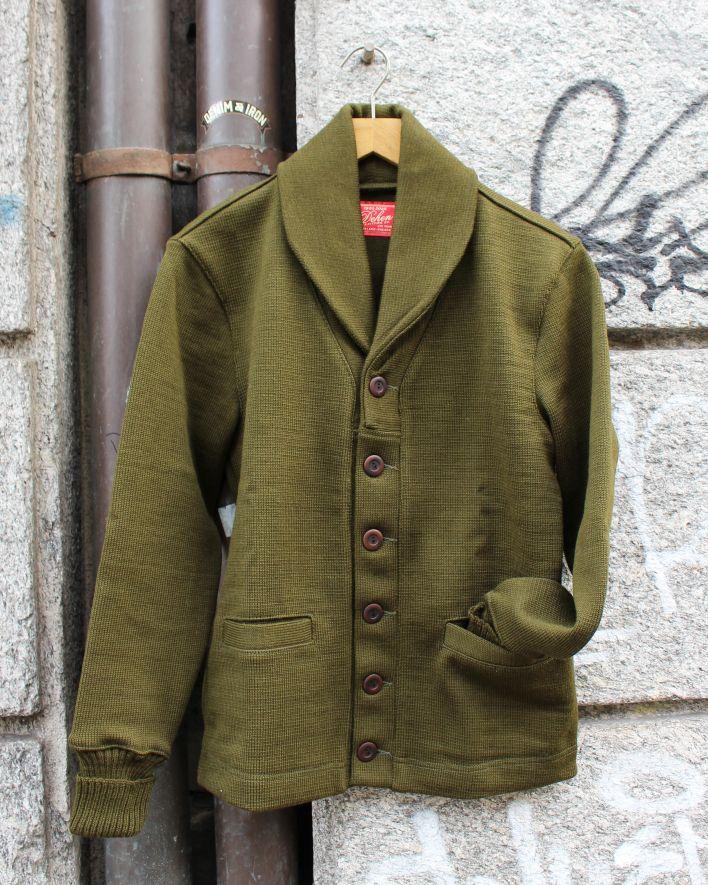 Dehen Shawl Sweater Coat loden_2