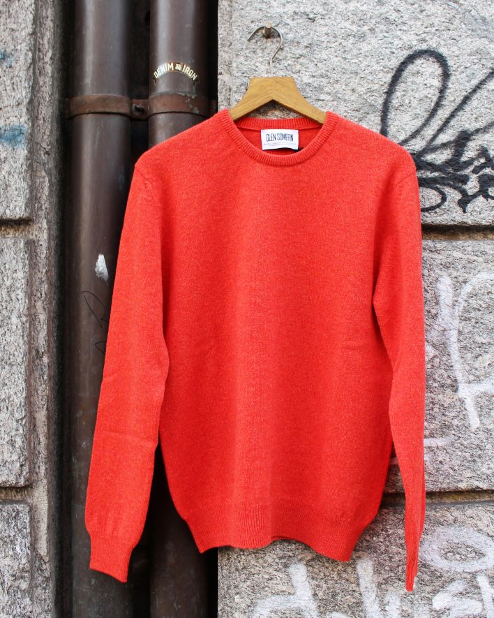 Glen Somefine Classic Sweater Lambswool inferno_1