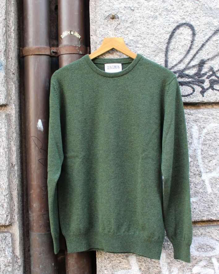 Glen Somefine Classic Sweater Lambswool rosemary_1.1