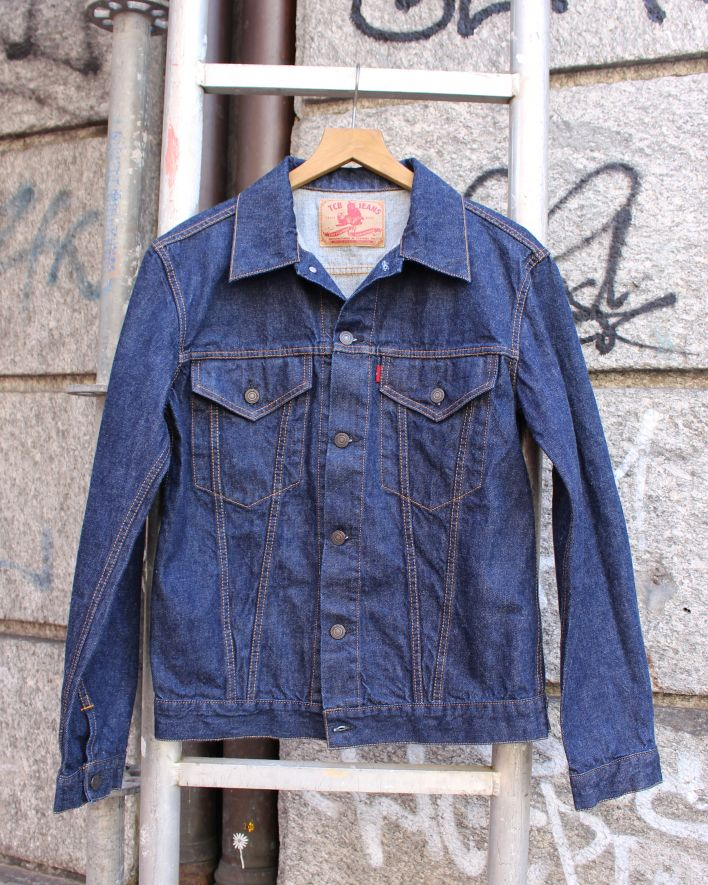 TCB 60s TRUCKER Jacket 13 oz. one wash_1