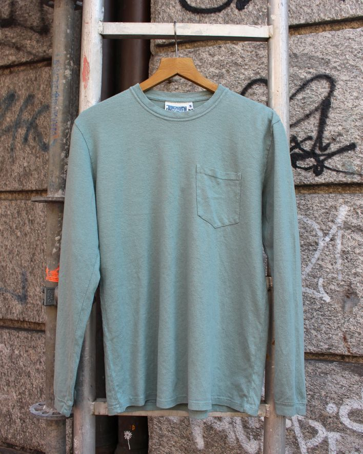 Jungmaven Baja Longsleeve Pocket Tee clay green_1