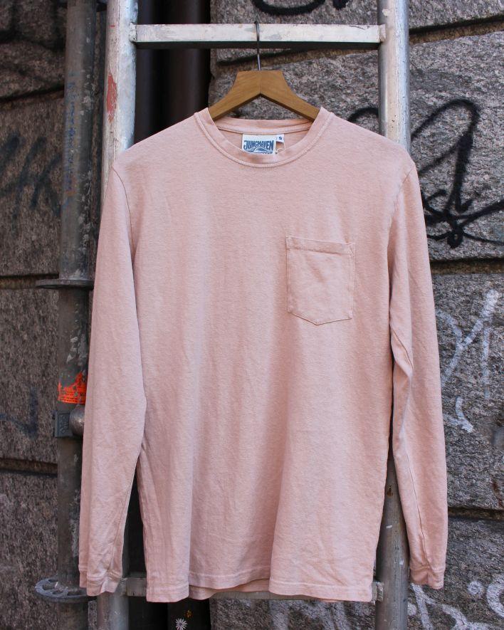 Jungmaven Baja Longsleeve Pocket Tee dusty pink_1