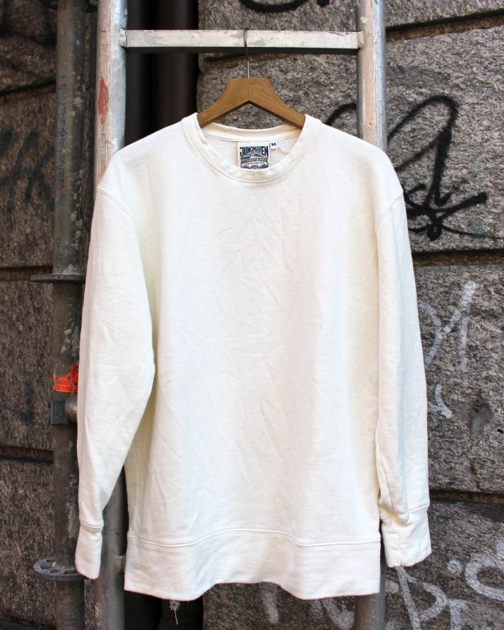 Jungmaven Tahoe Sweatshirt washed white_1
