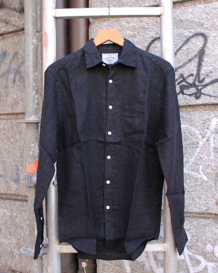 Portuguese Flannel Linen Shirt black_1