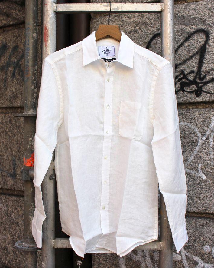 Portuguese Flannel Linen Shirt weiss_1