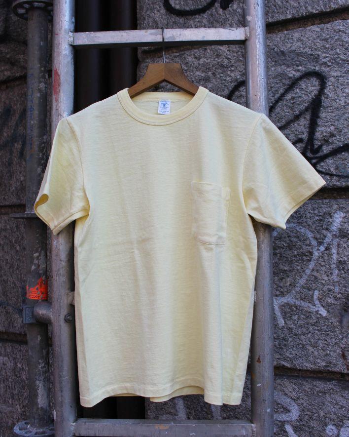 Velva Sheen PIGMENT DYED Crew Neck Pocket T-Shirt grapefruit_1