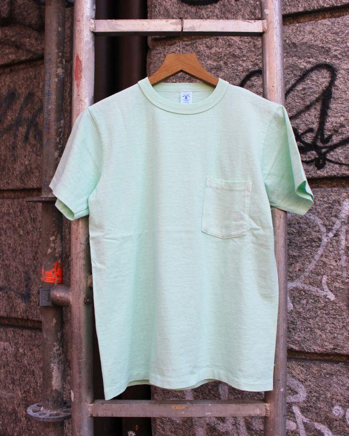Velva Sheen PIGMENT DYED Crew Neck Pocket T-Shirt mint_1