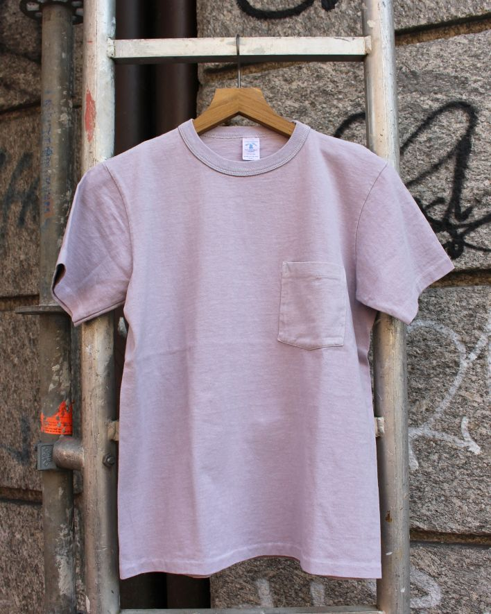 Velva Sheen PIGMENT DYED Crew Neck Pocket T-Shirt wisteria_1