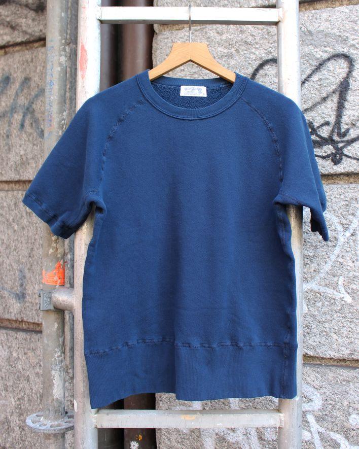 Velva Sheen SHORT SLEEVE FREEDOM Crew Neck Sweater 8 oz. pigment navy_1