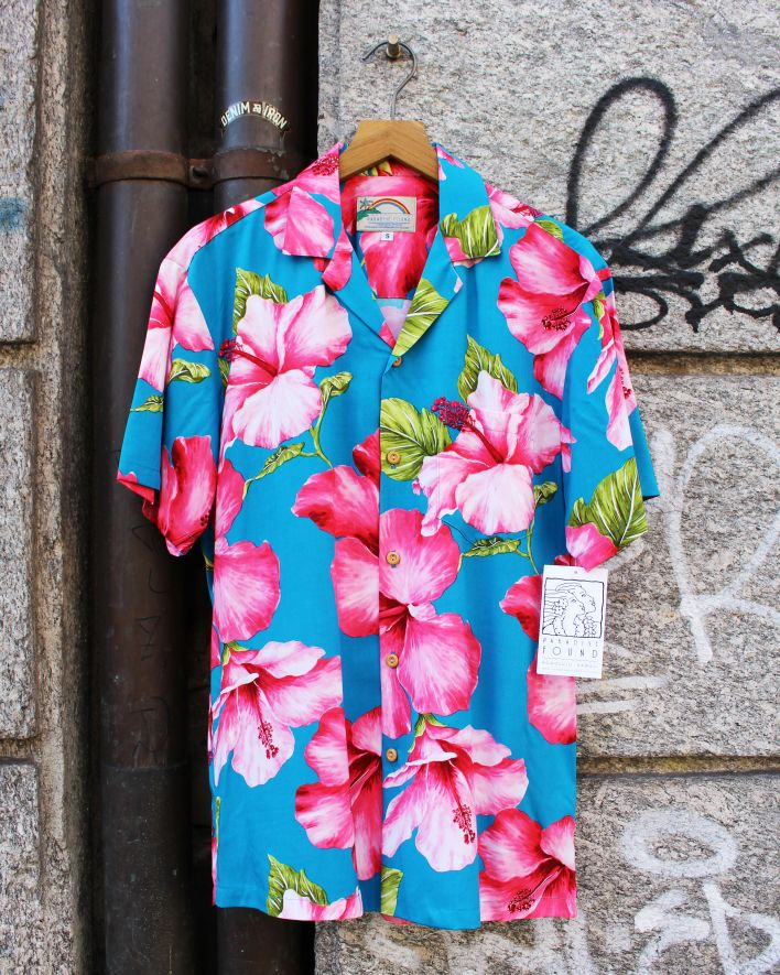 Paradise Found HIBISCUS Hawaii Shirt blossom teal_1