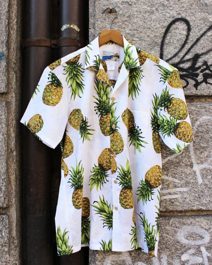 Paradise Found MAUI PINEAPPLE Hawaii Shirt white_1