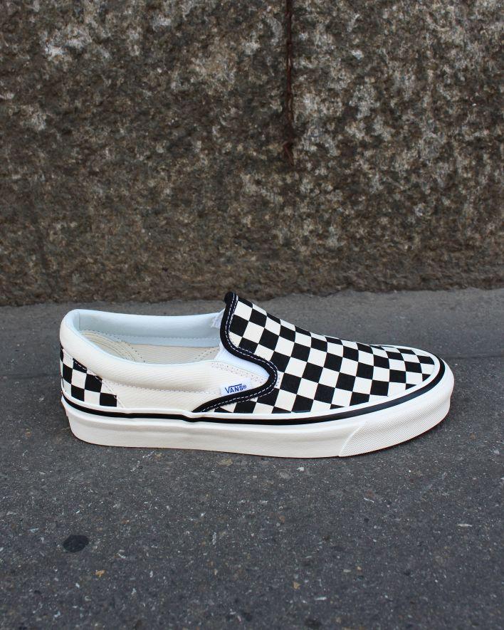 Vans Anaheim SLIP-ON 98 DX CHECKBOARD Black White_1