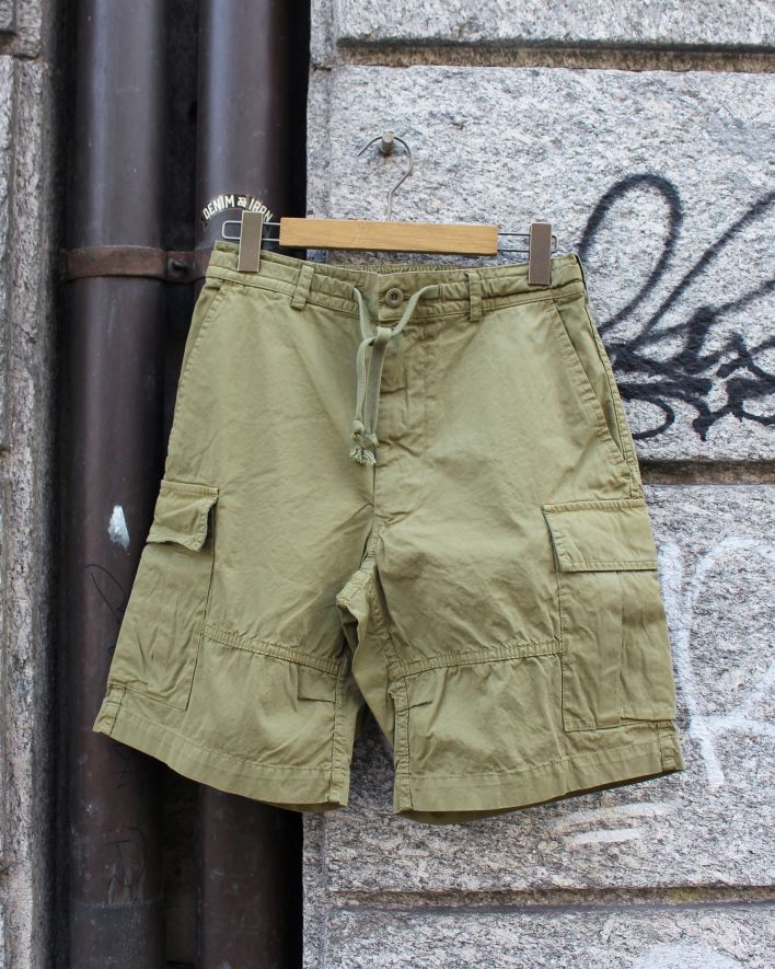 East Harbour Surplus PAT Cargo Shorts army green_1