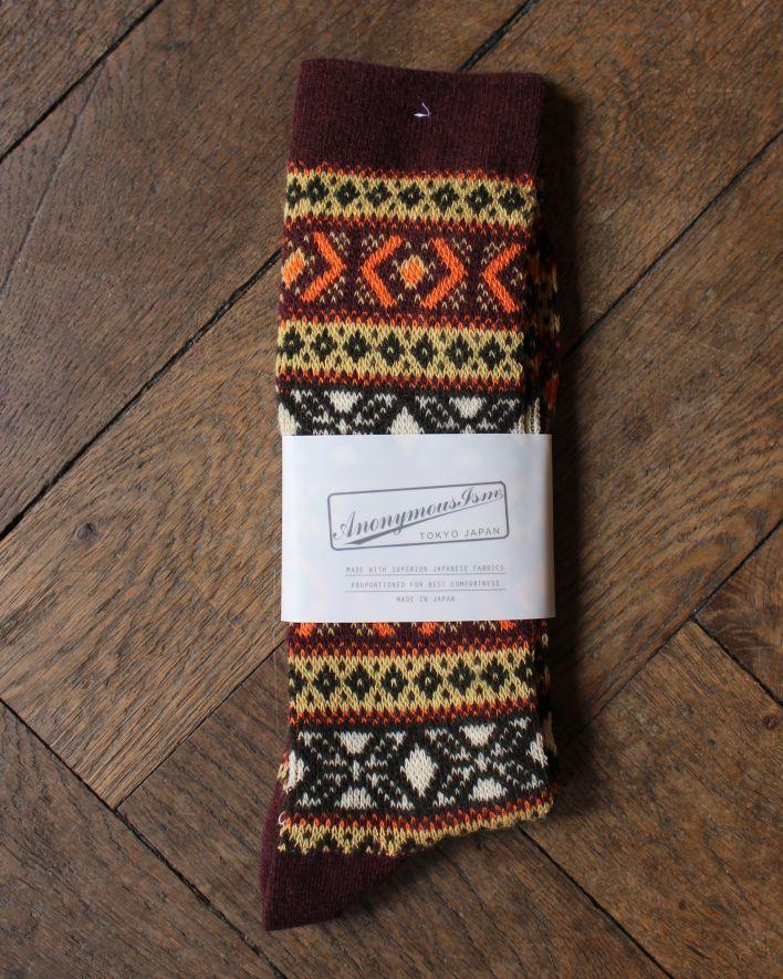 Anonymous WOOL JQ CREW Socks brown_1