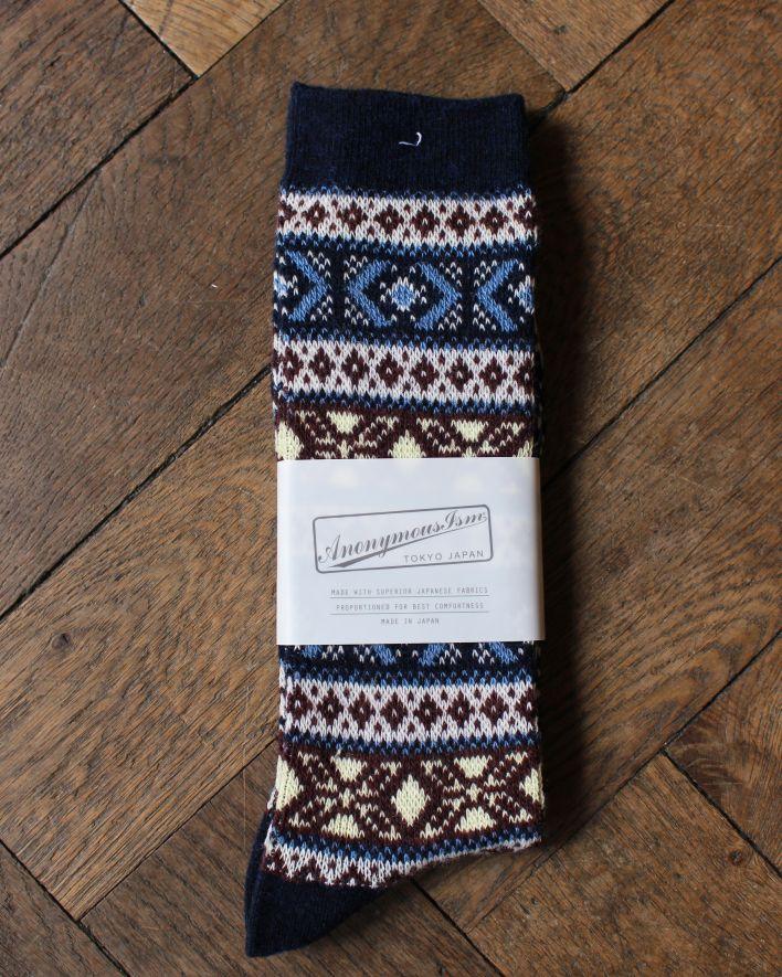 Anonymous WOOL JQ CREW Socks navy_1