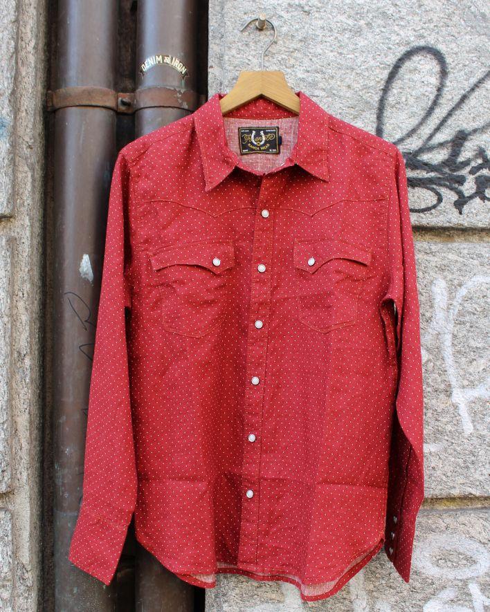 Freenote CALICO Shirt red polka dot_1