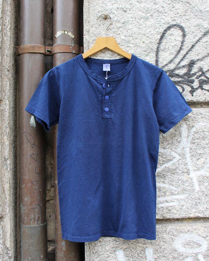 Velva Sheen HENLEY T-Shirt blue indigo_1