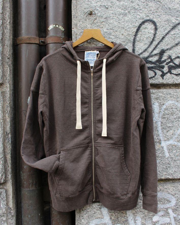 ZEPPELIN ZIP HOODED Sweatshirt espresso brown_1