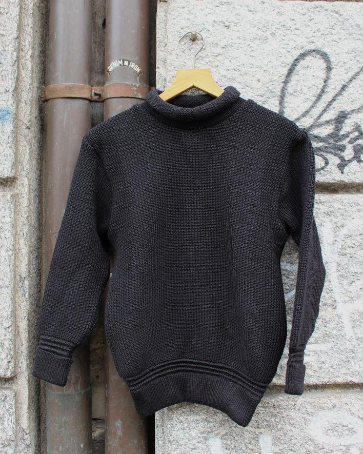 Heimat MINI ROLL NECK Sweater Wool black_1