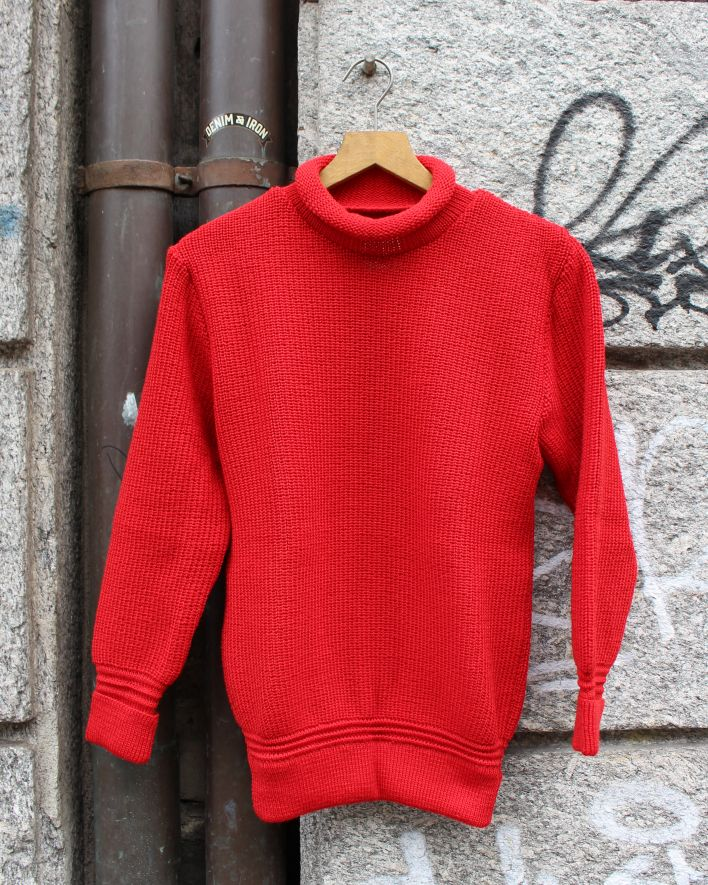 Heimat MINI ROLL NECK Sweater Wool safety red_1