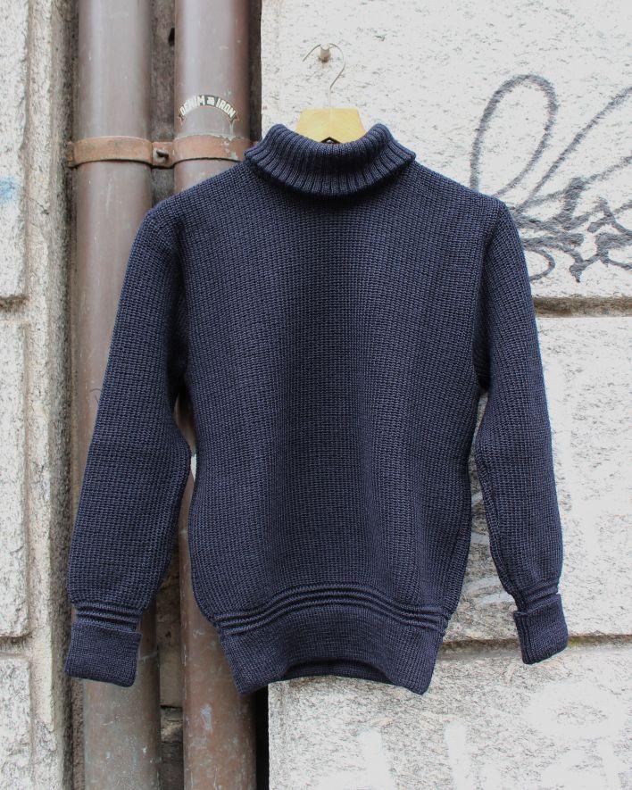 Heimat U-BOAT ROLL NECK Sweater Wool ink_1