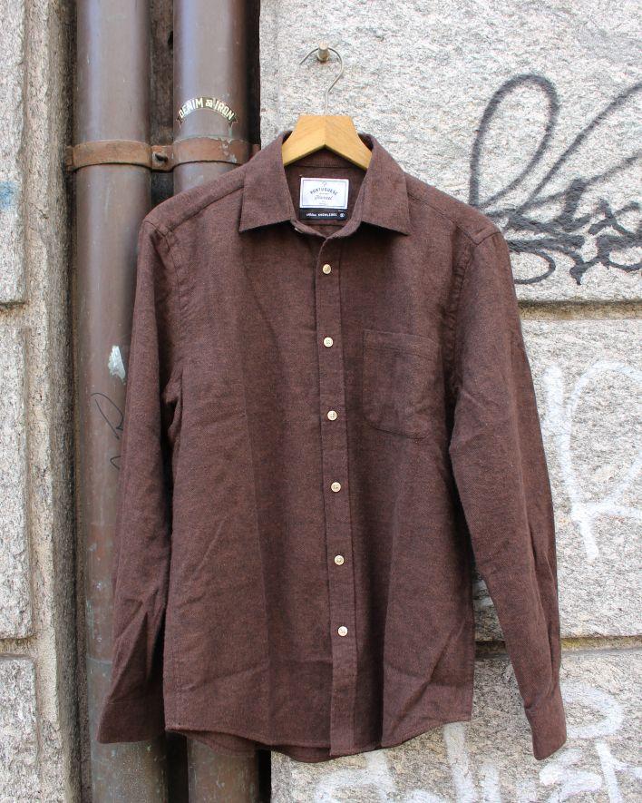 Portuguese Flannel Teca Flannel Shirt brown_1
