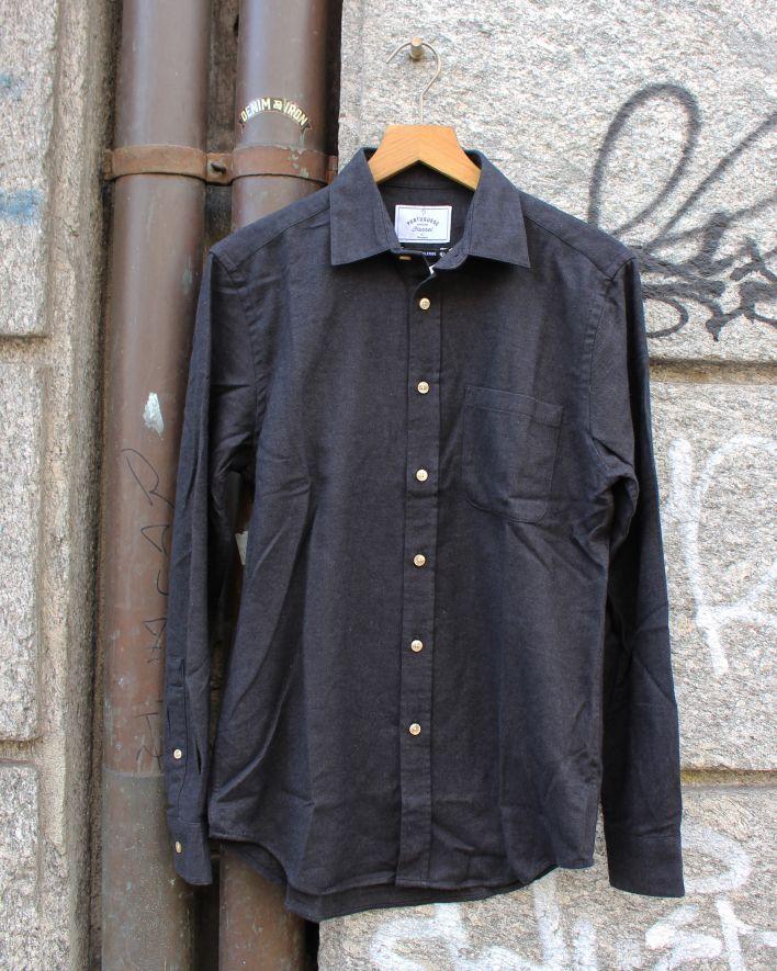 Portuguese Flannel Teca Flannel Shirt grey_1