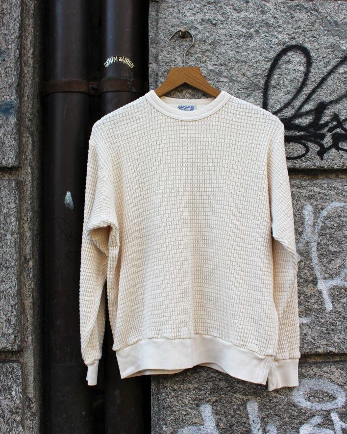 Velva Sheen CREW SET-IN WAFFLE Sweatshirt natural_1