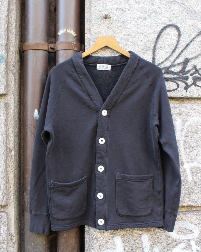 Velva Sheen FREEDOM Cardigan Sweater 8 oz. pigment black_1