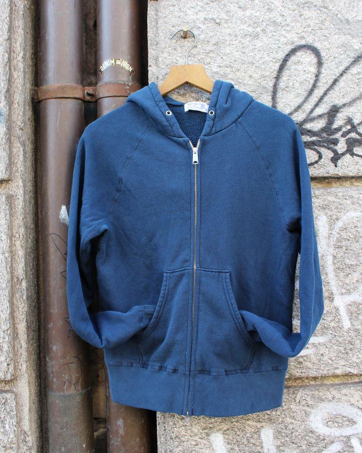 Velva Sheen ZIP HOODED Sweater 8 oz. pigment navy_1